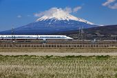 Mt Fuji and Tokaido Shinkansen