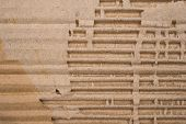 Cardboard Corrugated Pattern Background, Horizontal