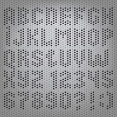 perforated carbon abstract Latin alphabet letters