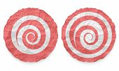 Two Icons With Texture Crumpled Paper And Spiral