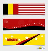 Belgium, Flags concept design. Vector illustration.