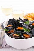 mussel and parsley