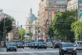 Rush Hour Traffic Downtown Bucharest