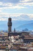 Florence - view of Palazzo Vecchio from Piazzale Michelangelo