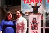 LOS ANGELES - JUL 2:  Ben Falcone, Melissa McCarthy at the Melissa McCarthy Hand and Footprint Cerem
