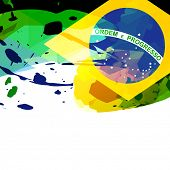 vector brazil flag abstract background