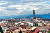 View of Palazzo Vecchio and skyline of Florence, Italy