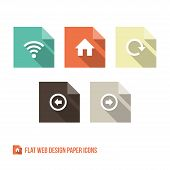 Web Design Paper Icons
