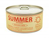 Concept Of Seasons. Summer. Tin Can.