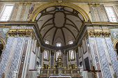 Interiors of San Paolo Maggiore church, Naples, Italy