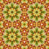 Seamless floral pattern paintings on fabric