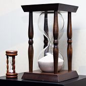 Big And Small Wooden Sand Clock