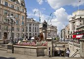 LONDON, UK - JUNE 30, 2014: Bank of England square and underground station