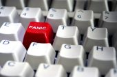 Red Panic Button Close-up