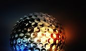 Golf Ball On Abstract Colorful Background