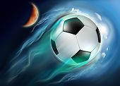 Soccer Ball Globe Travel In Space