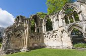 Ancient Medieval Church Ruins In English City