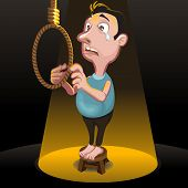 image of hangman  - male committing suicide - JPG