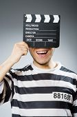 Inmate with the movie clapper