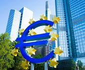Frankfurt, Germany-February 12 : Euro Sign. European Central Bank (ECB) is the central bank for the