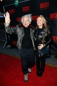 NEW YORK-MAR 13: Fashion designer Ralph Lauren (L) and Ricky Anne Loew-Beer attend the 'Rocky' Broad
