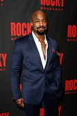 NEW YORK-MAR 13: Actor Terence Archie attends the 'Rocky' Broadway opening night after party at Rose