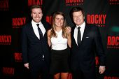 NEW YORK-MAR 13: Producers Will Taylor, Sophie Taylor and Bill Taylor attend the 'Rocky' Broadway op