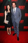 NEW YORK-MAR 13: Actor Danny Mastrogiorgio (R) and Natasha Rossi attend the 'Rocky' Broadway opening