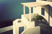 Patio In Santorini, Greece