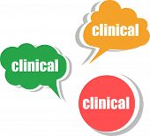 Clinical. Set Of Stickers, Labels, Tags. Template For Infographics