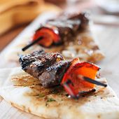 sirloin steak mini kabobs with pita bread
