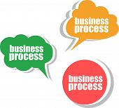 Business Process. Set Of Stickers, Labels, Tags. Template For Infographics