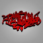 Graffiti - red and black wild style illustration