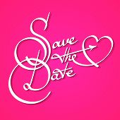 Save the date calligraphy