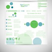Website template circle website green blue
