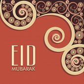 Beautiful floral decorated background for Muslim community festival Eid Mubarak celebrations.