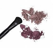 Crushed Eyeshadow With Makeup Brush
