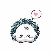 kawaii cute hedgehog