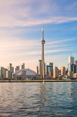 TORONTO, CANADA - JUNE 7, 2014: View of the CN Tower and Rogers Center, opened in 1989 as the home o