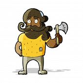 cartoon lumberjack with axe