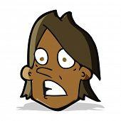 cartoon frightened face