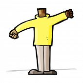 cartoon body waving arms (mix and match cartoons or add own photos)