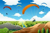 People Paragliding