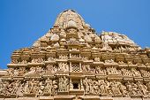 stock photo of kamasutra  - Erotic Temple in Khajuraho - JPG