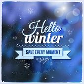 Creative graphic message for winter design
