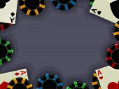 Background Illustration of Aces Accompanied by Casino Chips