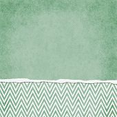 Square Green And White Zigzag Chevron Torn Grunge Textured Background