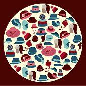 Set Icons Of  Hats - Illustration