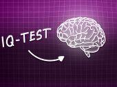 Iq Test  Brain Background Knowledge Science Blackboard Pink