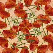 Vintage Grunge Floral Pattern
